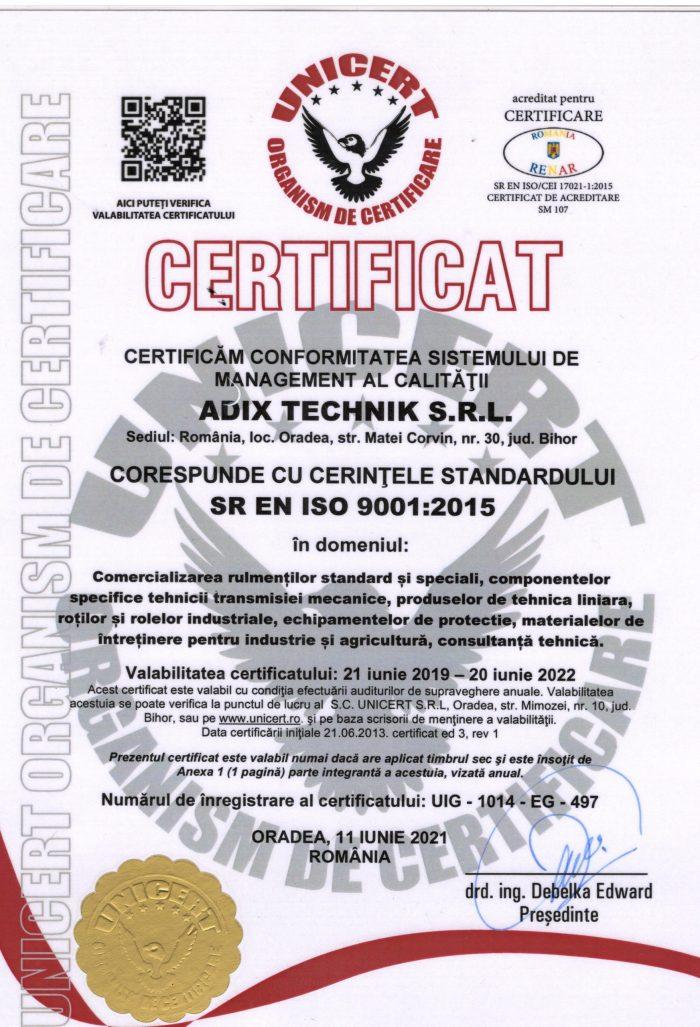 Certificat RO